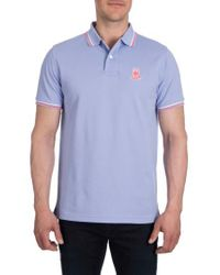 Psycho Bunny - Blue Neon Bunny Polo for Men - Lyst
