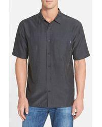 Jack O'neill | Black 'ixtapa' Regular Fit Short Sleeve Woven Sport Shirt for Men | Lyst