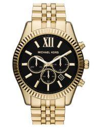 Michael Kors - Metallic Michael Kors 'large Lexington' Chronograph Bracelet Watch - Lyst