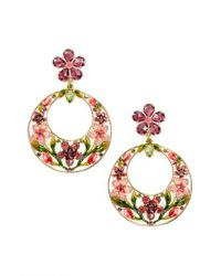Kate Spade | Metallic In Full Bloom Drop Earrings | Lyst