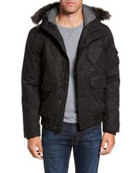 Timberland - Black Scar Ridge Dryvent(tm) Faux Fur Trim Down Parka for Men - Lyst