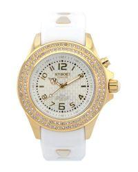 Kyboe - Metallic ! 'radiant' Crystal Bezel Silicone Strap Watch - Lyst