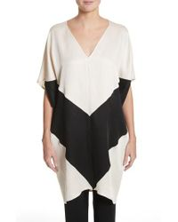 Zero + Maria Cornejo - Black Colorblock Dress - Lyst