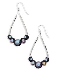 Chan Luu - Blue Velvet & Pearl Drop Earrings - Lyst