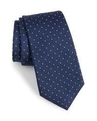 Calibrate - Blue Bre Dot Cotton & Silk Tie for Men - Lyst