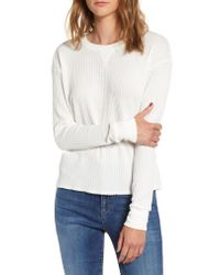 RVCA - White Cited Waffle Knit Pullover Top - Lyst