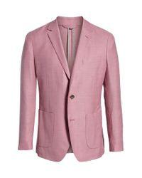 Bonobos Pink Trim Fit Wool Unconstructed Blazer for men