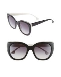 Alice + Olivia | Black Mercer 52mm Cat Eye Sunglasses | Lyst