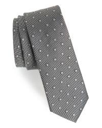 Calibrate - Gray Felsic Geometric Silk Tie for Men - Lyst