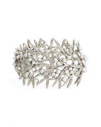 Oscar de la Renta - Metallic Wide Bracelet - Lyst