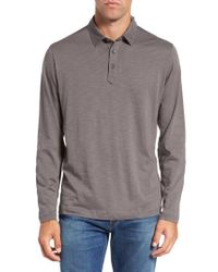Tommy Bahama   Gray 'portside Player Spectator' Long Sleeve Jersey Polo for Men   Lyst
