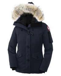 Canada Goose | Blue 'Montebello' Down Parka With Genuine Coyote Fur Trim | Lyst