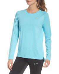 Nike - White Breathe Tailwind Running Top - Lyst