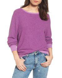 Wildfox - Purple 'baggy Beach Jumper' Pullover - Lyst