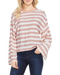 Two By Vince Camuto | Pink Lydia Stripe Tee | Lyst