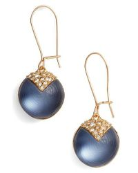 Alexis Bittar | Blue Alex Bittar Crystal Encrusted Lucite Sphere Drop Earrings | Lyst