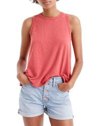 a4e8e63803fbd Lyst - J.Crew Tie-back Tank Top in Red