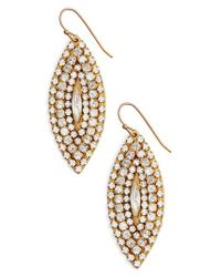 Sandy Hyun - Metallic Marquise Statement Earrings - Lyst