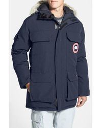 Canada Goose | Blue 'expedition' Relaxed Fit Down Parka for Men | Lyst
