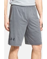 Under Armour | Gray 'raid' Heatgear Loose-fit Athletic Shorts for Men | Lyst
