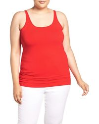Sejour   Red New Slim Strap Tank   Lyst