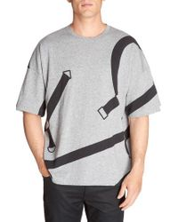 Lacoste   Black L!ve Harness Print T-shirt for Men   Lyst