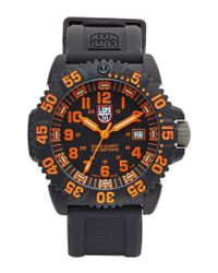 Luminox - Black 'sea - Navy Seal Colormark' Silicone Strap Watch for Men - Lyst