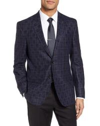Ted Baker | Blue Jay Trim Fit Plaid Wool Sport Coat for Men | Lyst