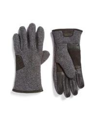 Ugg - Gray Ugg Wool Blend Tech Gloves for Men - Lyst