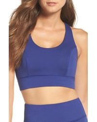 Free People - Blue Fp Movement Synergy Bra - Lyst