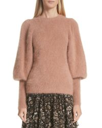 Ulla Johnson - Multicolor Labelle Puff Sleeve Angora Blend Sweater - Lyst