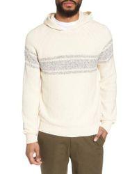 Vince - White Stripe Hooded Sweater for Men - Lyst
