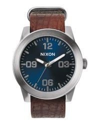 Nixon - Brown 'the Corporal' Watch for Men - Lyst