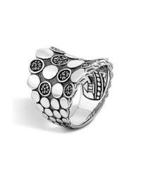 John Hardy | Metallic 'dot' Silver Saddle Ring | Lyst