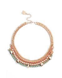 Adia Kibur - Metallic Braided Chain Necklace - Lyst