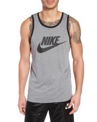 Nike Black 'ace Sportswear Logo' Graphic Tank for men