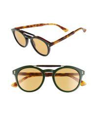23891e0d3c Lyst - Gucci Vintage Pilot 50mm Sunglasses - in Blue for Men