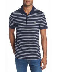 Lacoste - Blue Stripe Polo for Men - Lyst