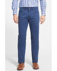 Peter Millar | Blue Stretch Sateen Five Pocket Pants for Men | Lyst