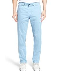Peter Millar | Blue Stretch Sateen Five Pocket Pants for Men | Lyst