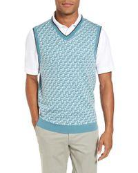 Ted Baker | Blue Tommas Golf Merino Sweater Vest for Men | Lyst