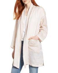 Eileen Fisher - Natural Linen Blend Kimono Jacket - Lyst