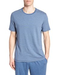 Daniel Buchler - Blue Stripe Pima Cotton & Modal Crewneck T-shirt for Men - Lyst