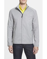 Cutter & Buck | Gray 'blakely' Weathertec Wind & Water Resistant Full Zip Jacket for Men | Lyst