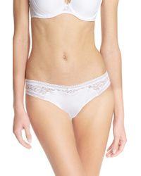 Passionata - White 'miss Fashion' Lace Thong - Lyst