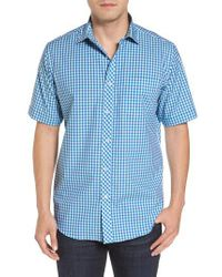 Bugatchi - Blue Classic Fit Check Sport Shirt for Men - Lyst