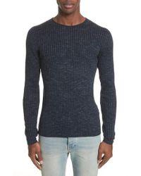 John Varvatos - Blue John Varvatos Melange Stripe Sweater for Men - Lyst