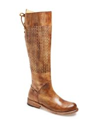 Bed Stu - Brown 'cambridge' Knee High Leather Boot - Lyst