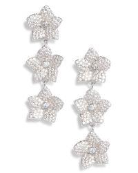 Kate Spade - Metallic Blooming Pave Linear Earrings - Lyst