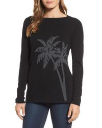 Tommy Bahama | Black Island Palm Intarsia Cashmere Pullover | Lyst